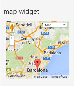 map widget working