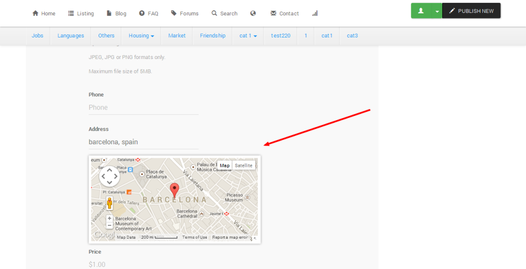 3 Ways to Use Google Maps With Classifieds | Documentation for Yclas