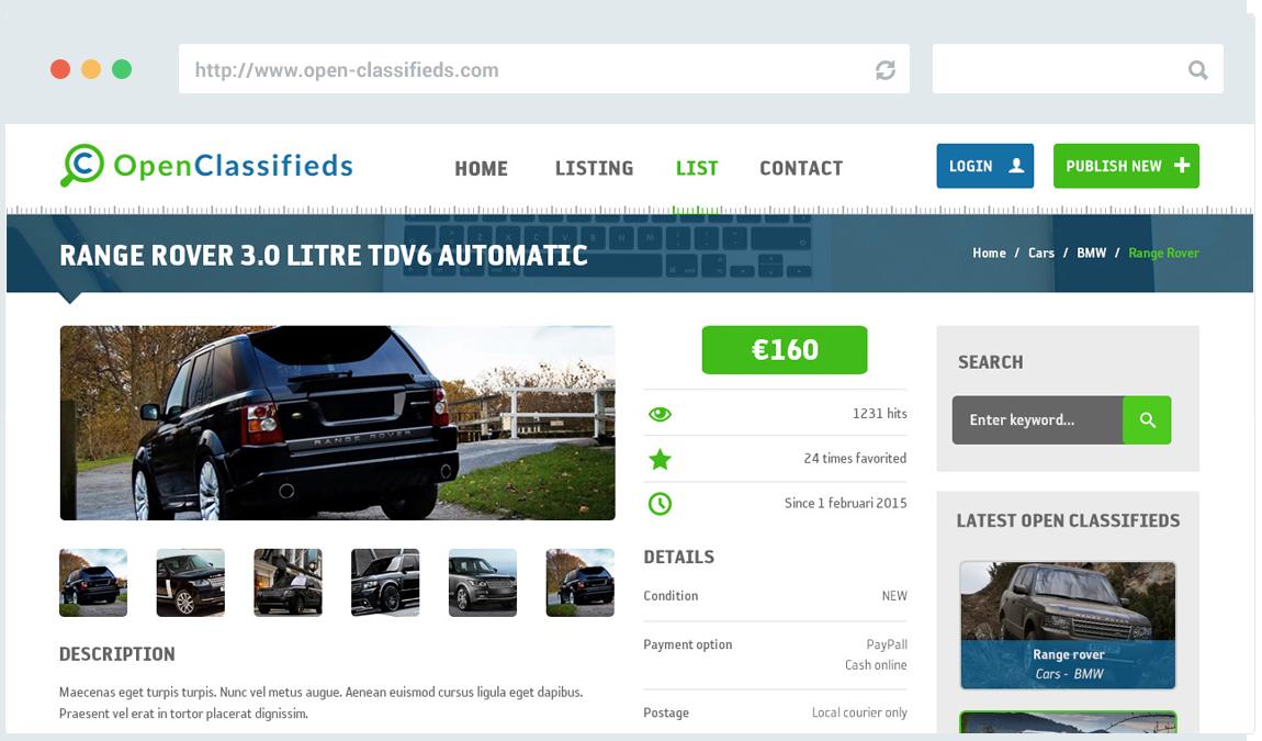 Car Dealer Software - Open Classifieds